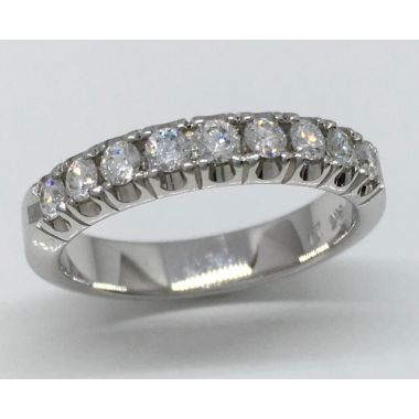 14k White Gold 1/2 Carat Pave Set Diamond Ring