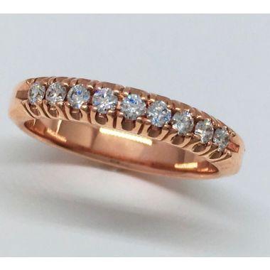 14k Rose Gold Pave Diamond Ring (.25ctw)