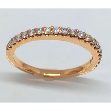 14k Rose Gold 1/4 Carat Diamond Wedding Band