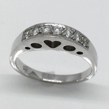 14k White Gold .20 Carat Diamond Wedding Band