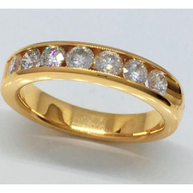 14K Yellow Gold 3/4 Carat Diamond Band
