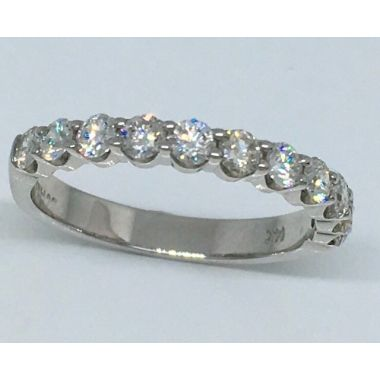 14k White Gold .80 Carat Diamond Wedding Band