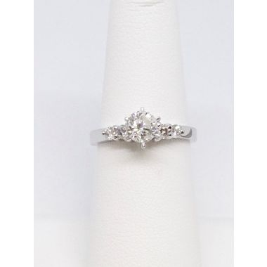 14k White Gold .20 Carat Diamond Engagement Ring Semi-Mount