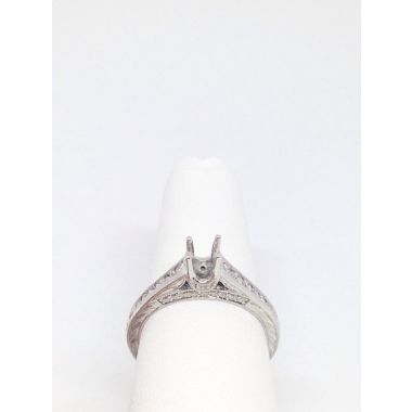 14k White Gold .36 Diamond Engagement Ring Semi-Mount