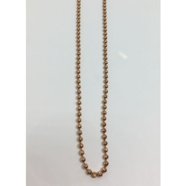 10k Rose Gold Solid Beaded Fashion Necklace 1.9mm