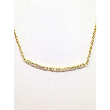 14k Yellow Gold Diamond Necklace w/ .17 Carat Diamonds