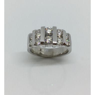14k White Gold Diamond Anniversary Ring (1.50ctw)