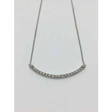 14k White Gold 1/2 CTW Diamond Fashion Necklace