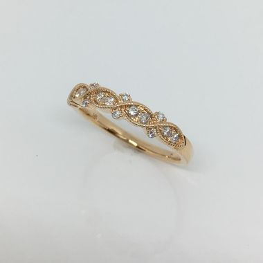 14k Rose Gold Diamond Fashion Ring (.25ctw)