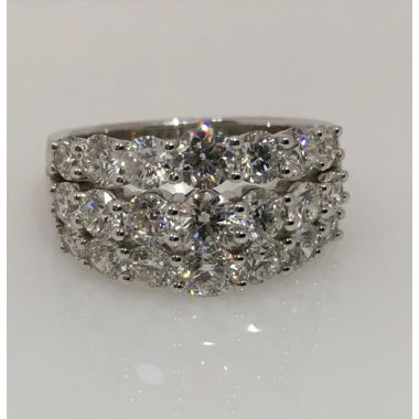 14k White Gold Diamond Anniversary Ring (3.00ctw)