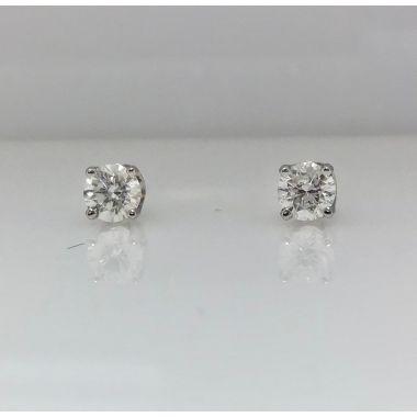 14k white gold diamond stud earrings 1/2 carat