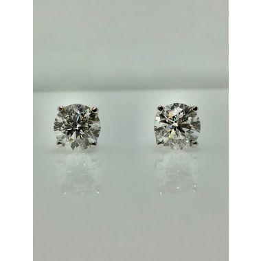 14k white gold diamond stud earring I/J I1 (1.62ctw)