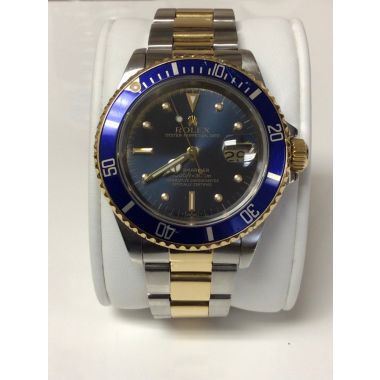 Rolex 1989 Submariner Date 41mm 166133 18k/Stainless Tropical Dial