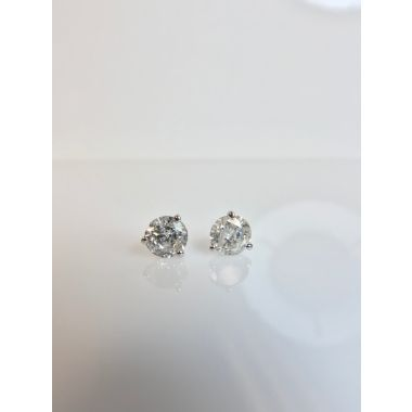 2.00 Carat Diamond Stud Earring in14k WG Martini Settings