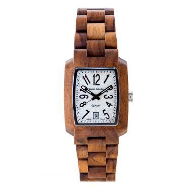 """Tense Wood Watch """"Timber Walnut White"""""""