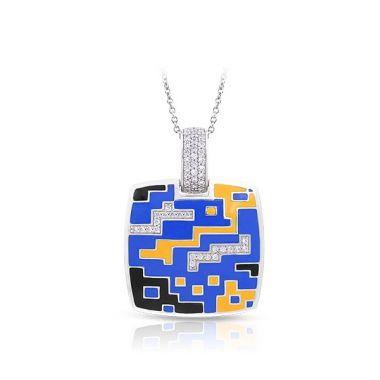Belle Etoile Pixel Blue & Yellow Pendant