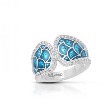 Belle Etoile Marina Ring Sea Blue Size 6