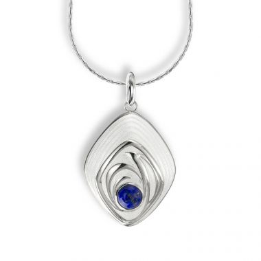 Nicole Barr Sterling Silver Enameled Necklace