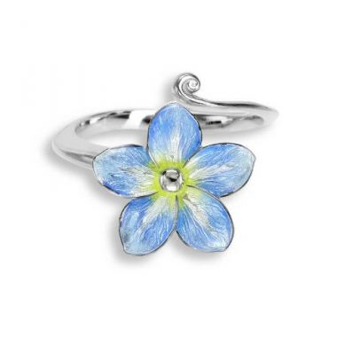 Sterling Silver Forget-me-not Ring-Blue