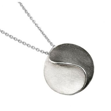 Jorge Revilla Sun Modern Fashion Pendant Ruthenium/Rhodium Finish