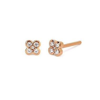 1/8ctw Diamond Earring in 10k Rose Gold