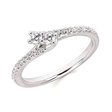 1/4 CTTW Two-Stone Diamond Ring