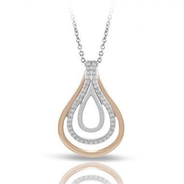 Belle Etoiles Onda Silver & Rose Gold Pendant