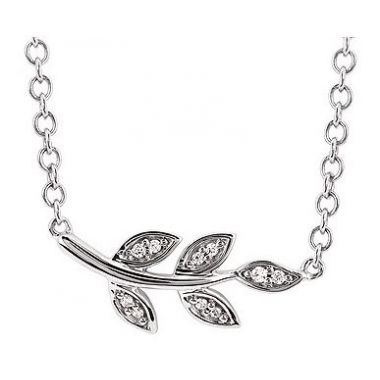 .04ctw Diamond Leaf Fashion Pendant