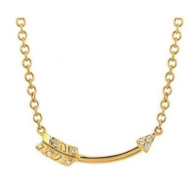 .03ctw Diamond Arrow Fashion Pendant in 10k Gold
