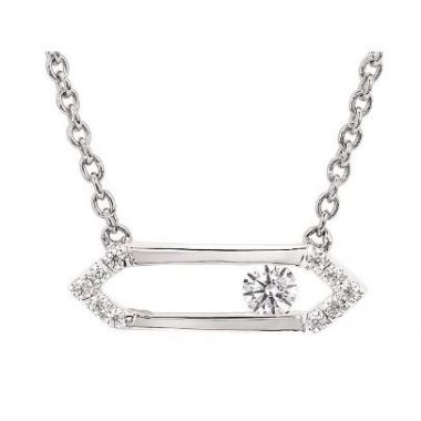 1/10 ctw Sliding Diamond Pendant in 10k White Gold