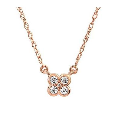1/10 ctw Diamond Fashion Pendnat in 10k Rose Gold