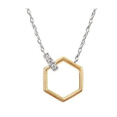 .05ctw Two-Tone Diamond Fashion Pendant in 14k Gold