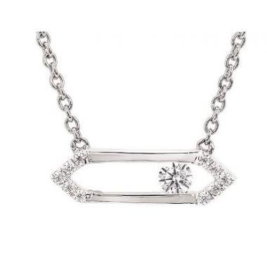 14k Sliding Diamond Pendant