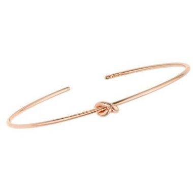 14k Rose Gold 5.5mm Polished Cuff Knot Bangle