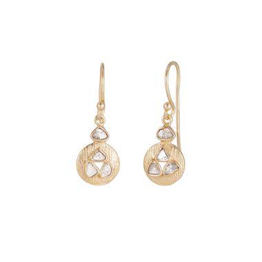 Sterling Silver & 18k Yellow Jorge Revilla Dangle Diamond Fashion Earrings