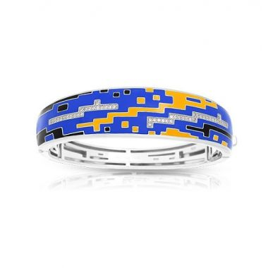 Belle Etoile Pixel Blue & Yellow Bangle