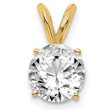Near Colorless SI1-2 Yellow Gold Lab Grown Pendant Series