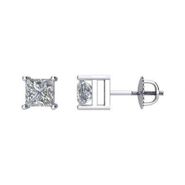 1/5 CTW Princess Diamond Studs