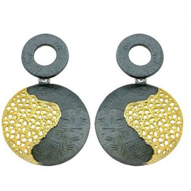 Jorge Revilla 925 Drop Earring Treasure Collection