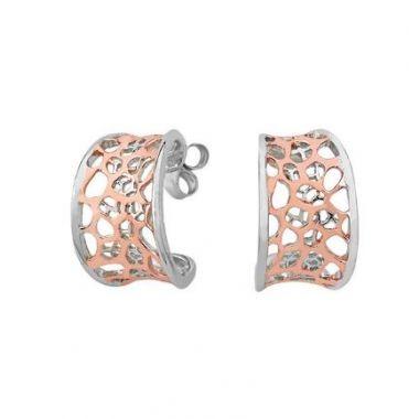 Jorge Revilla 925 Fashion Earrings with 18k Rose Finish