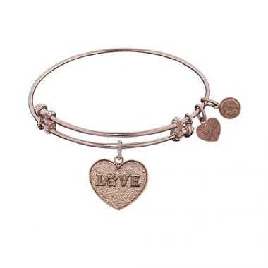 Angelica Adjustable Rose Brass Love Bangle