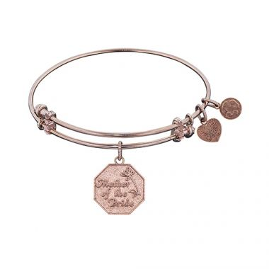 Angelica Adjustable Rose Brass Mother Of The Bride Bangle