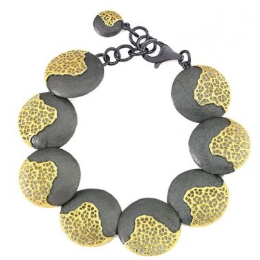 Jorge Revilla 925/18k Yellow Treasure Bracelet