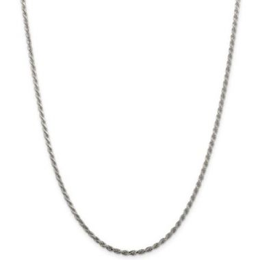 Sterling Silver 2.25mm Diamond-Cut Rope Chain