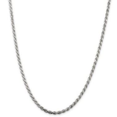 Sterling Silver 3.00mm Diamond-Cut Rope Chain
