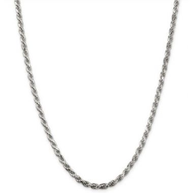 Sterling Silver 3.50mm Diamond-Cut Rope Chain