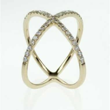14k Yellow Gold Geometric Diamond Ring (.37ctw)