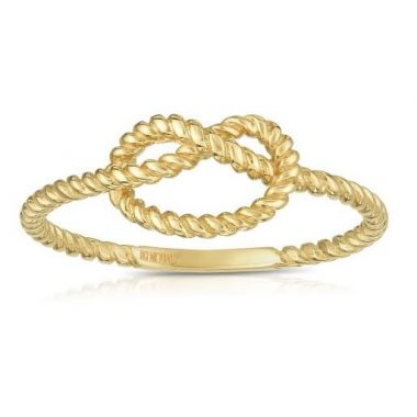 14k Gold Fancy Knot Ring