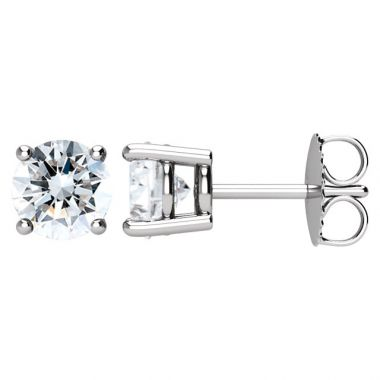 5/8 Carat I/J SI1 Round Diamond Studs Set in 14k White Gold