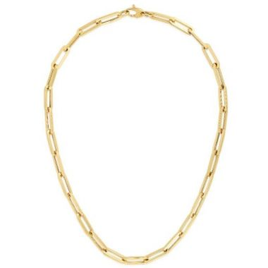 14K Gold 6.1mm Paperclip Chain